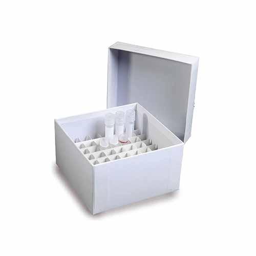 Caixa Fibra de Papelão para 16 Tubos de 50 Ml