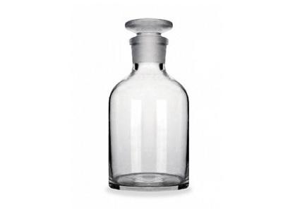 Frasco de Vidro Transparente com Boca Esmerilhada - 250 Ml
