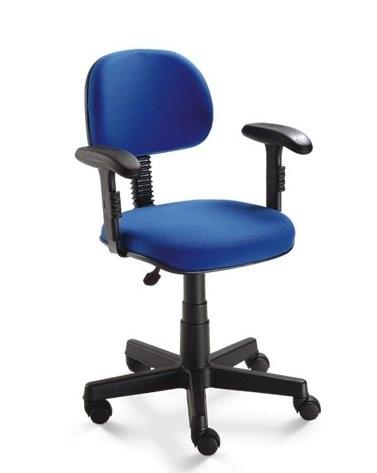 Cadeira de Escritório Digitador com Braçadeira E Rodízios