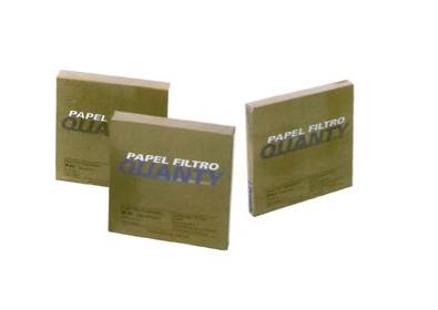 Papel de Filtro Faixa Preta Quantitativo - 18,5 Cm - 100 Unid